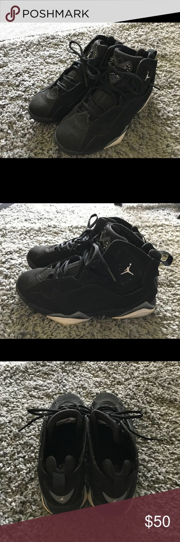 Air Jordan true flight black white cool grey Air Jordan shoes with size 8.5. Only wore several times. In very good condition. Air Jordan Shoes Sneakers
