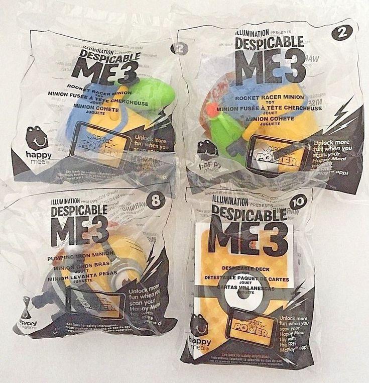 2017 McDonald's Happy Meal Minions Despicable Me 3 Toys You Pick NIP  #McDonalds