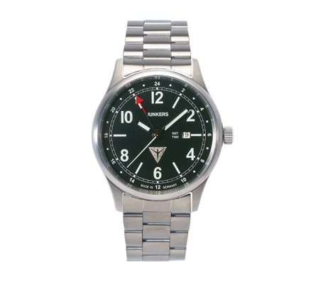 Reloj Junkers World Flight Records Titanio.   http://www.tutunca.es/reloj-junkers-cockpit-negro-y-acero-gmt