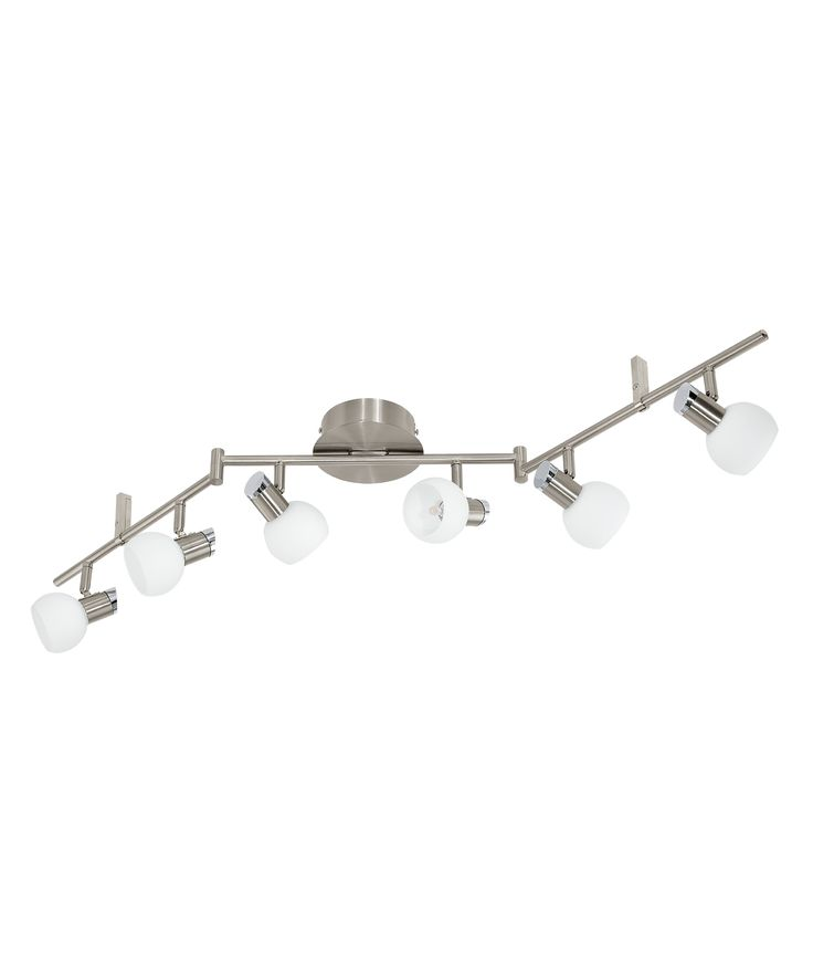 173 best ceiling lighting images on pinterest nickel led 6 light bar with frosted glass shades mozeypictures Image collections