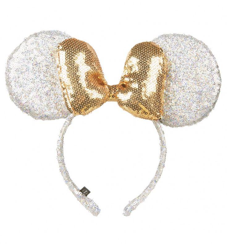 Silver And Gold Sequin Disney Minnie Ears Headband