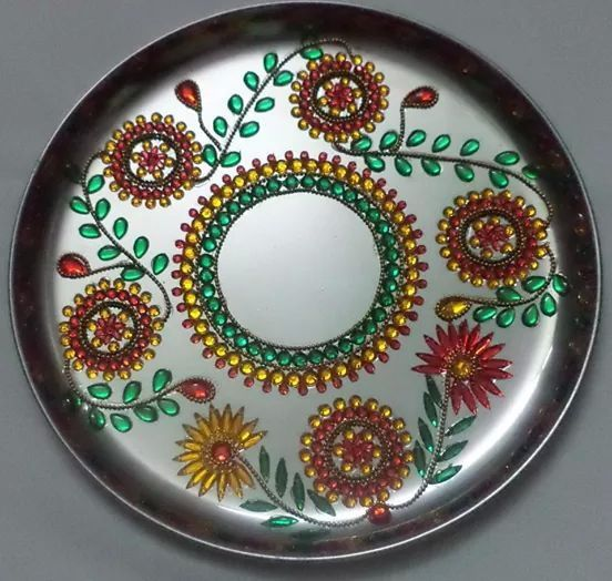28 best images about plates on pinterest crafts wedding for Aarti thali decoration with clay