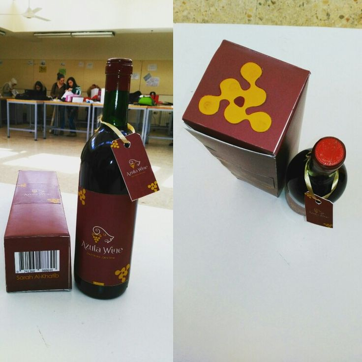 Azula wine bottle + box handmade and designed by me