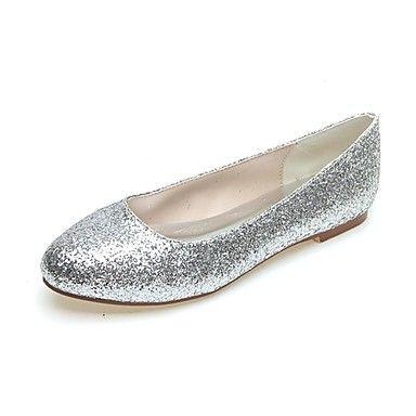 Women's+Spring+/+Summer+/+Fall+/+Winter+Round+Toe+Glitter+Party+&+Evening+Flat+Heel+Black+/+Silver+/+Gold+–+USD+$+27.99