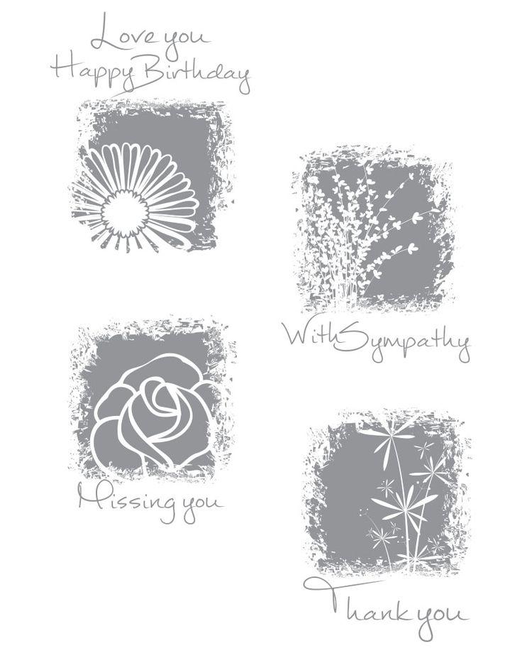 Sentimental Prints Stamp Set -