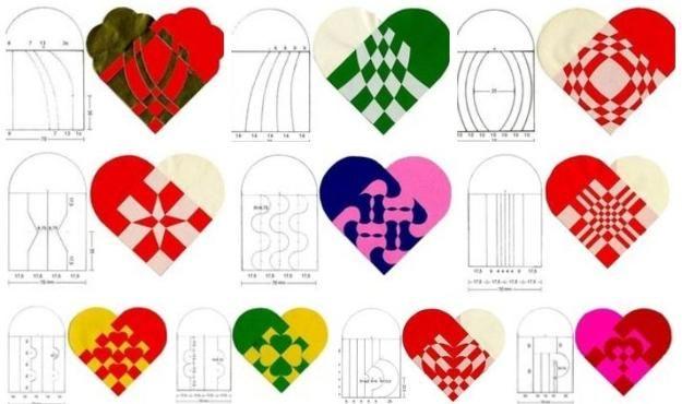 как сделать украшения, бумажные сердца на день Святого Валентина