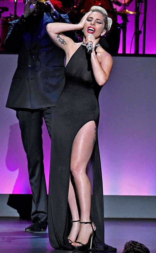 """Lady Gaga from The Big Picture: Today's Hot Pics The singer helps friend and fellow musician Tony Bennett celebrates 90 at his """"The Best Is Yet to Come"""" concert in New York City."""