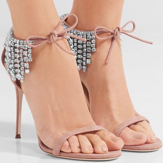 bling bling crystal embellished high heel sandal summer sexy open toe lace-up gladiator sandal rhinestones fringed woman sandal