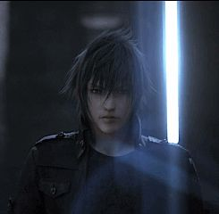 FFXV- My favorite scene probably of Noctis ever, no words, many feels