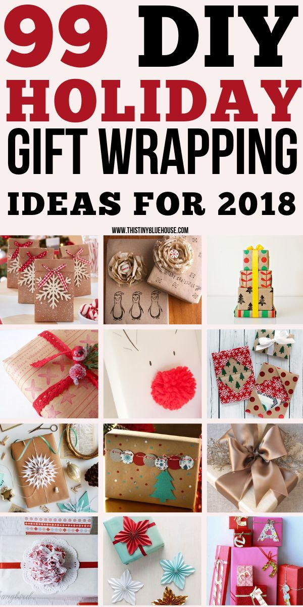 Here are over 90 of the BEST most gorgeous DIY Christmas Gift Wrapping ideas for 2018. Wow your friends and family with these beyond beautiful DIY Christmas ...
