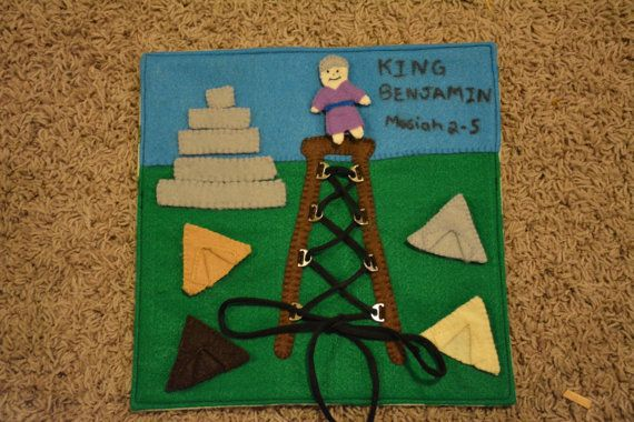 King Benjamin LDS Book of Mormon Quiet Book Page by HeavenlyMannah
