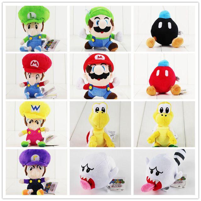 14 20cm Super Mario Bros Game Cute Plush Dolls Toy Boo Ghost Koopa