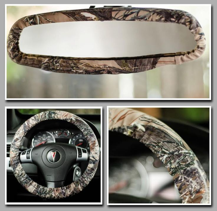 Camo True Timber Car Set - Padded Steering Wheel Cover and Rear View Mirror Cover Car Decor Cute Car Accessories by FireflyCreations42 on Etsy https://www.etsy.com/listing/231500943/camo-true-timber-car-set-padded-steering