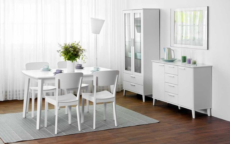Laulumaa Huonekalut - Olo-/ruokailuhuone - Laulumaa Olivia® - valkoinen