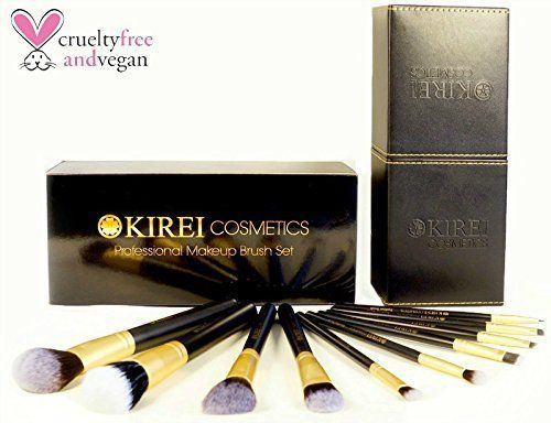 Best Professional Makeup Brush Set with Designer Luxury Case Cruelty Free, Vegan