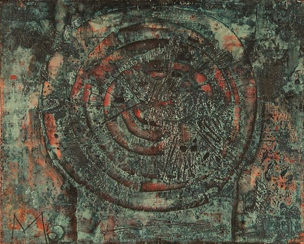 Mikuláš Medek, My Head is Going Around, 1962, oil on canvas | Museum Kampa