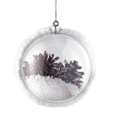 Un sapin de Noël au naturel avec une déco de Noël très folk