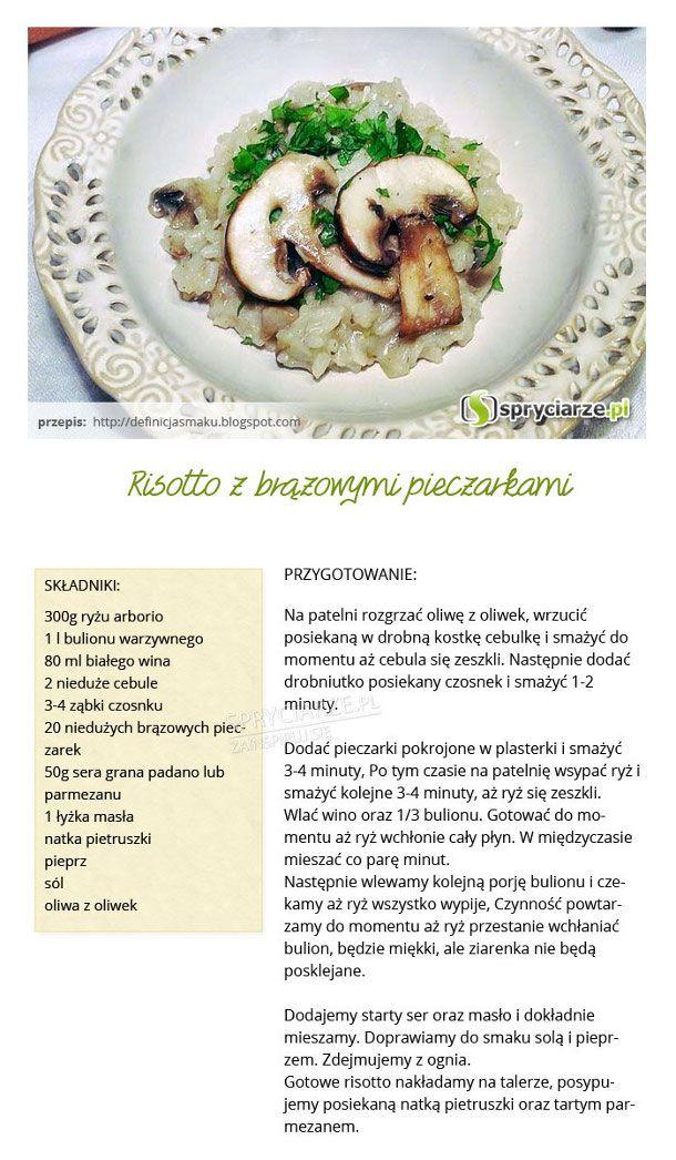 Przepis na risotto z brązowymi pieczarkami