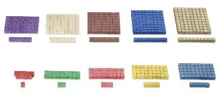 Rechenstäbchen in #Montessori-Farben von 1 - 10, jeweils 10 Stück. http://www.montessori-shop.de/material/rechenstaebchen-montes-678.php