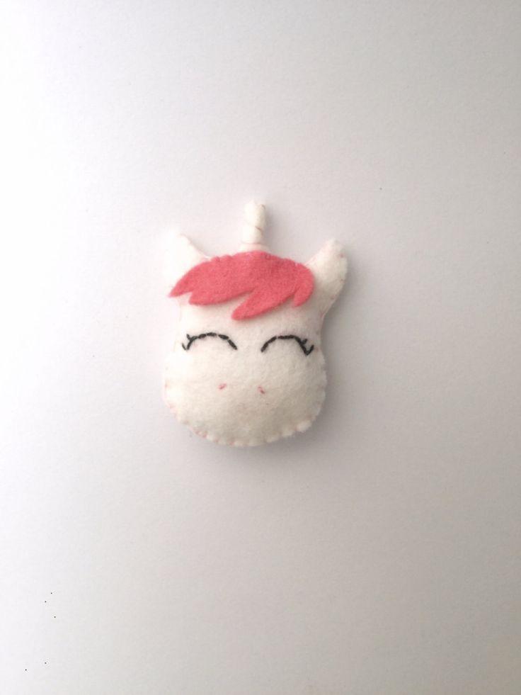 Felt unicorn face pillow / cushion / babyroom decor by TadiDesigns on Etsy