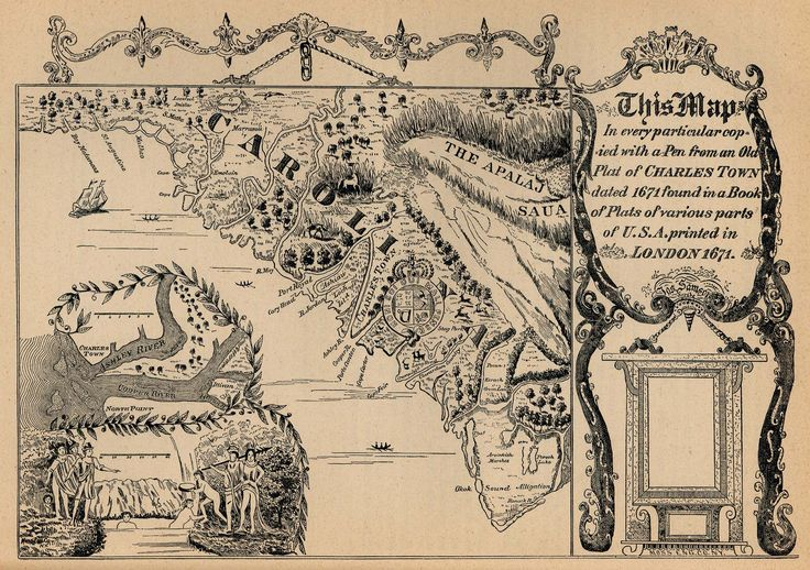 """This Map in every particular copied with a Pen from an Old Plat of CHARLESTOWN dated 1671"""