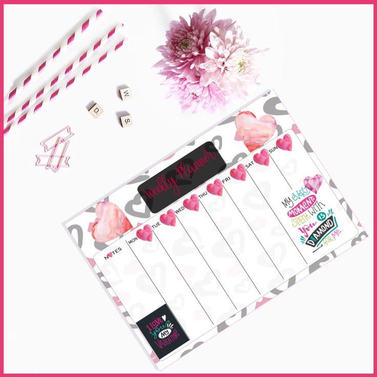 Valentine's Weekly Planner created by The Art of Creativity Studio - Downloadable PDF Printables