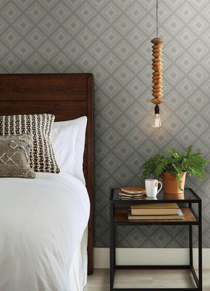 Magnolia Home Diamond Sketch Wallpaper – Light Grey