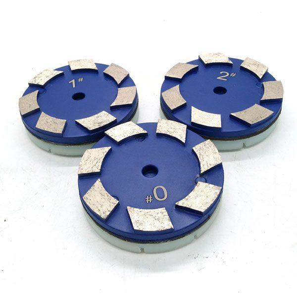 100mm Klindex Marble Floor Metal Polishing Pad With 3 Pins Step 0 1 2 Metal Metal Grinding Flooring