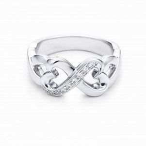 Tiffany Rings Outlet Picasso Double Loving Heart Ring