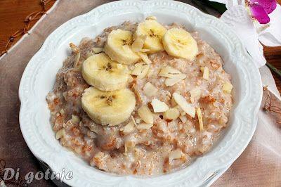 Di gotuje: Orkiszanka z bananem i masłem migdałowym (owsianka...