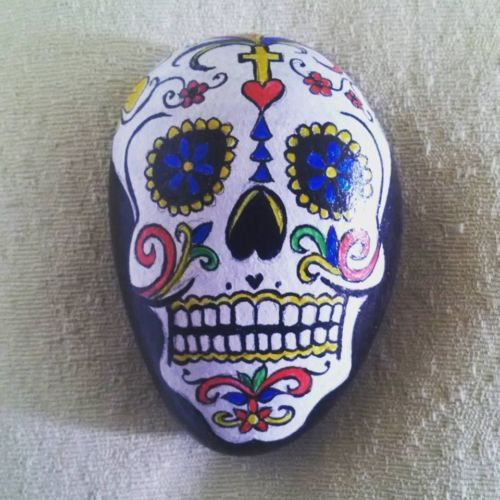 Mexican Hand Painted Skull
