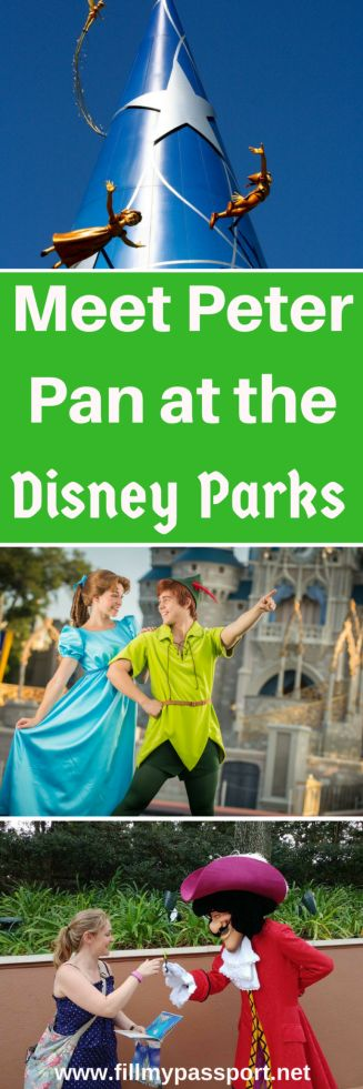 Off to Neverland! Check out our Disney Guide on finding Peter Pan, Captain Hook, Mr Smee, tinkerbell, and all the other Peter Pan characters at all the Disney Parks in Orlando, California, Japan, Paris France, Hong Kong, Shanghai, and the Disney Cruise Line. #disneytravel #disneytips #disneyland #disneyworld #wdwtips