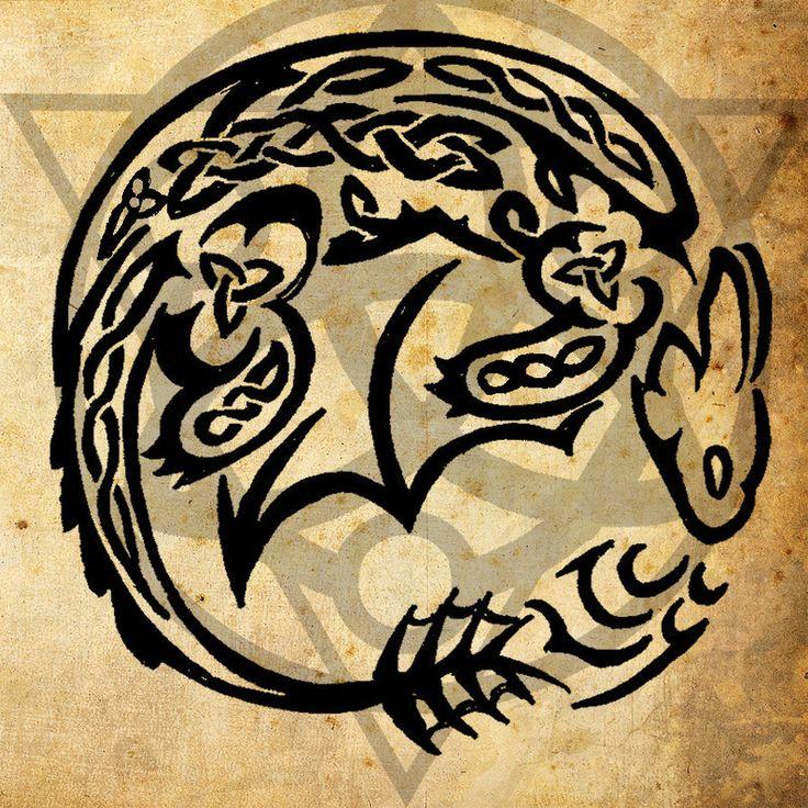 Celtic Night Fury Tattoo by =WildTheory on deviantART
