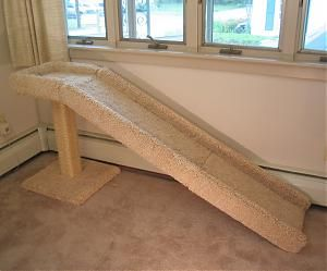 Cat Ramp with a Scratching Post and Perch - yes, i know it's for a cat