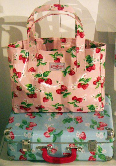 Love this happy strawberry print.  |  Cath Kidston SS13