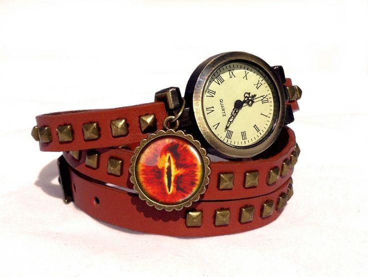 Leather watch bracelet - Sauron eye, 0189WLBC from EgginEgg by DaWanda.com