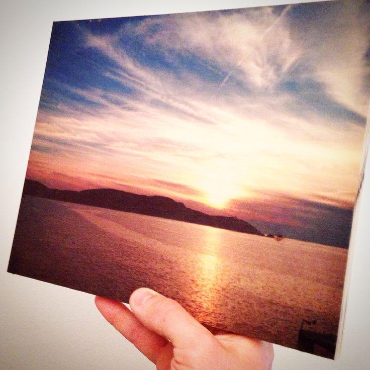 Ricordi di un tramonto a Calvì: 25x20 stampa su legno su www.legnogram.com