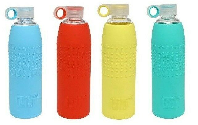 Glass Bottle With Silicone Sleeve 1 Liter 9 Cm Glass Bottles Glass Water Bottle Bottle