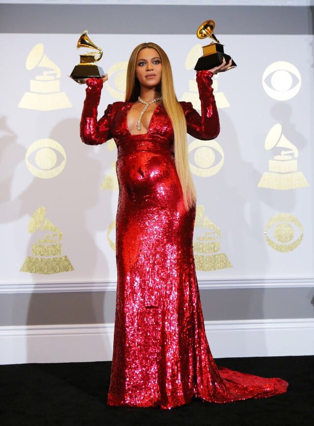 Beyoncé Won 2 Grammys for Best Music Video - Formation & Best Urban Contemporary Album - Lemonade at 59th Grammy Awards at Staples Center Los Angeles 12th February 2017