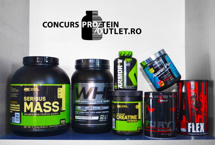 Concurs! Castiga unul din produsele din imagine accesand pagina noastra de Facebook: Protein Outlet
