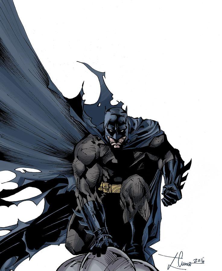 Batman de Bob Kane en Silencio (entintado a mano y color digital)