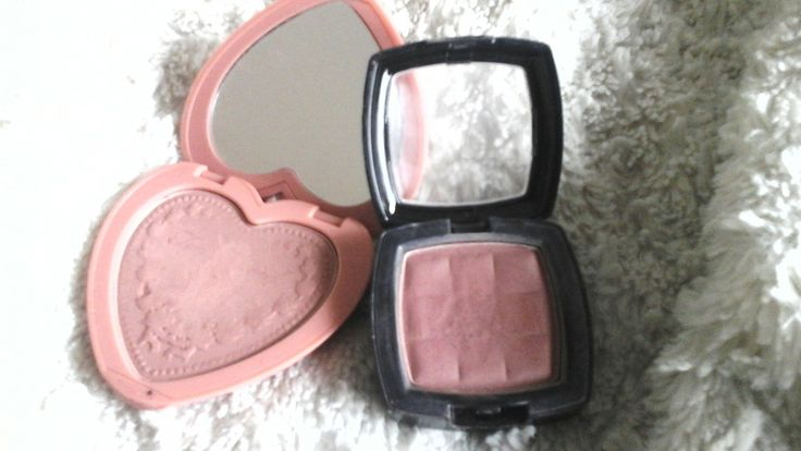 Dupe! Too Faced Love Flush Long-lasting 16 - hour Blush in: Baby Love. NYX Powder Blush in: Bittersweet!