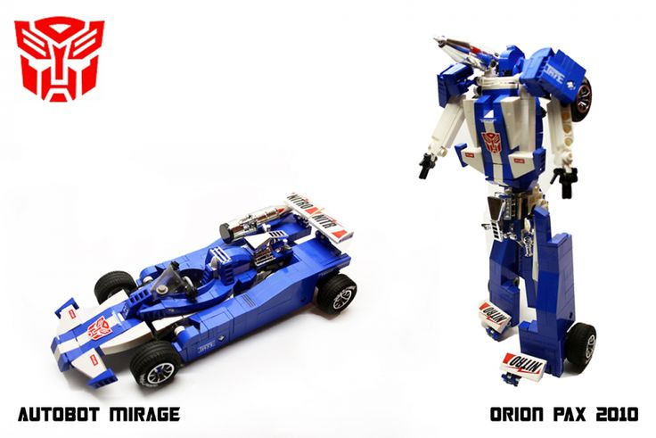 LEGO Transformers | Autobot Transformer MIRAGE by ORION PAX - LEGO TRANSFORMERS lego ...