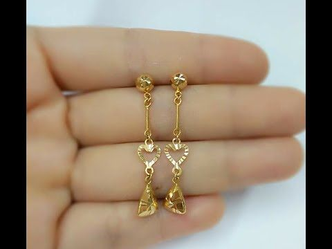 c0458534c Light Weight Gold Earrings Designs Daily Wear - YouTube | Jewllery ...