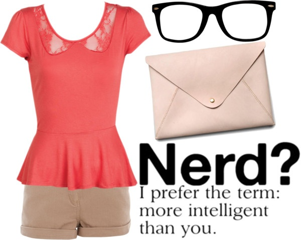 """""""Cute Nerd Outfit"""" by athenajr ❤ liked on Polyvore"""