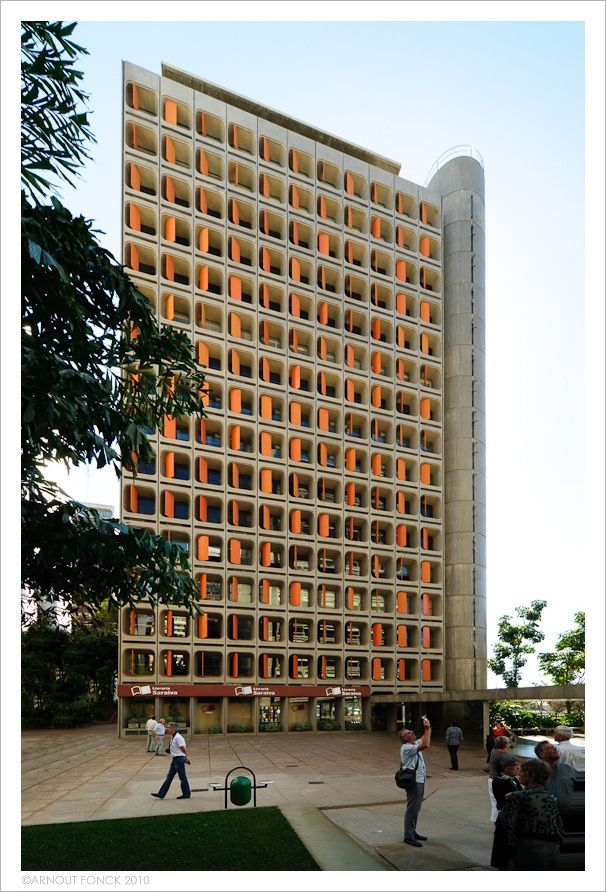 Camargo Correa and Morro Vermelho Building by Joao Filgueiras Lima  obra de Lelé http://www.archdaily.com.br/br/762275/classicos-da-arquitetura-cinco-classicos-de-lele-joao-filgueiras-lima-lele