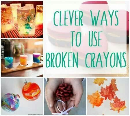 Cool Ideas to recycle crayons