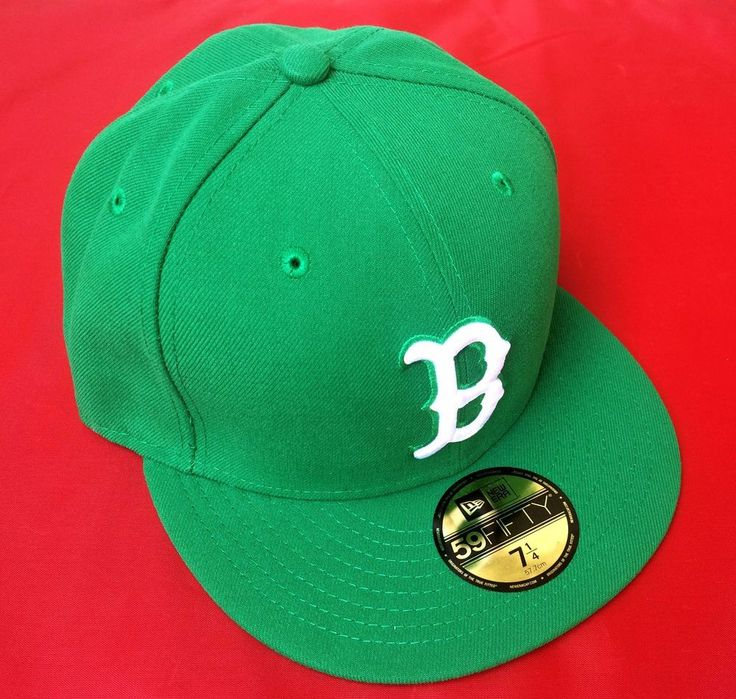 New Era 59Fifty MLB League Basic Boston Red Sox Green Cap White Team Logo 7 1/4 #NewEra #BaseballCap