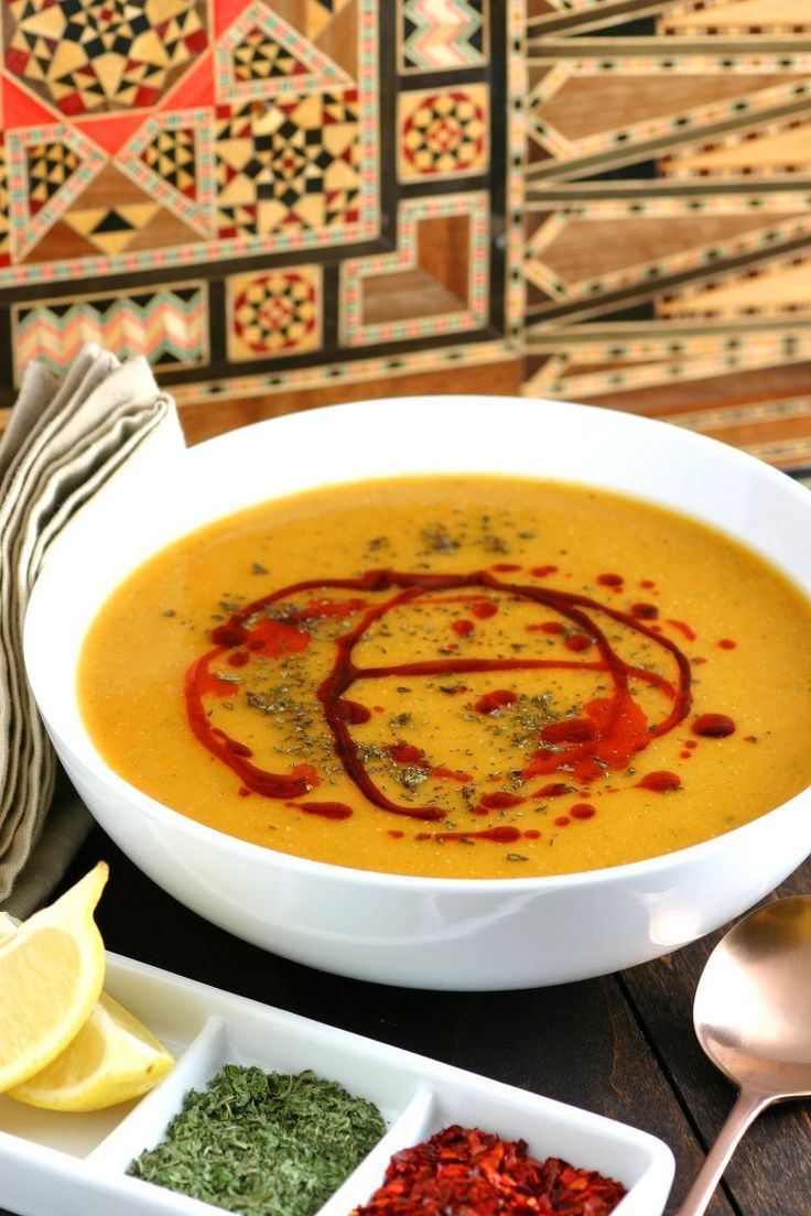 Smooth, spicy, and nutritious, Turkish Red Lentil Soup is simple to make and is best served with a squeeze of lemon and drizzle of paprika-infused oil.