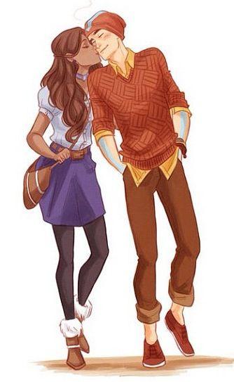 So cute <3 #interracial couple cartoon                                                                                                                                                                                 More